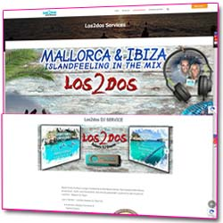 Bild Homepage Screenshot Los2dosMallorca Services 2020